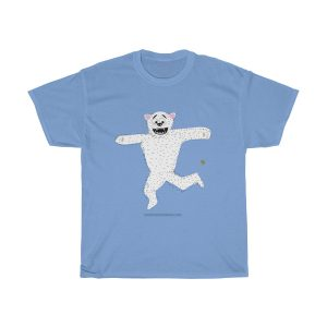 kicking-polar-bear-footbag-tshirt