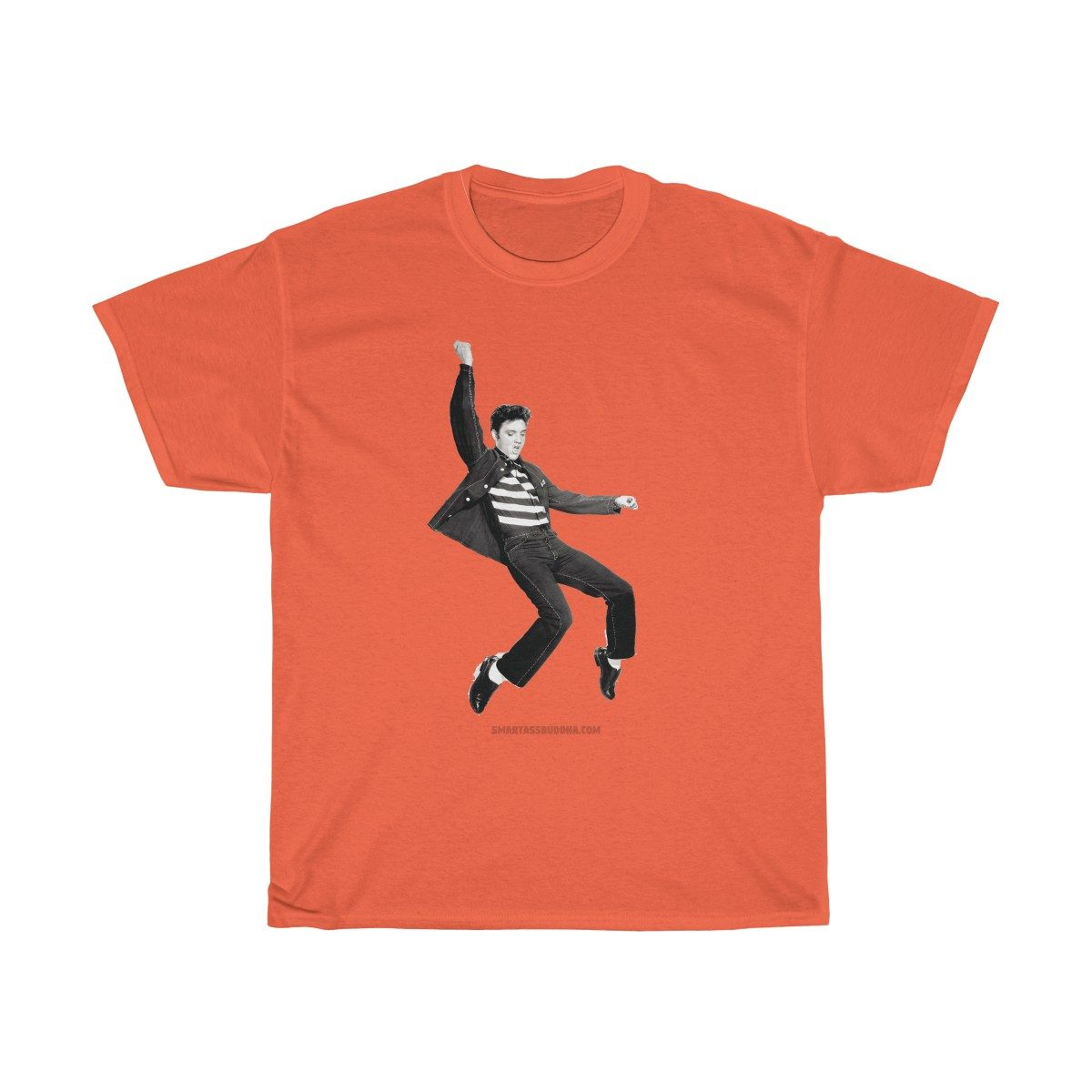 Positive-tshirt-gifts-for-her-women-men-dad-mom-him-funny-sayings- men-quotes-vintage-elvis-presley-jailhouse-rock-retro-funky-orange