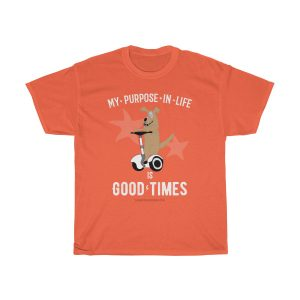 Positive-tshirt-gifts-for-her-woman-men-dad-mom-him-funny-sayings-Buddha-tshirt-quotes-spiritual-life-purpose-is-good-times-orange
