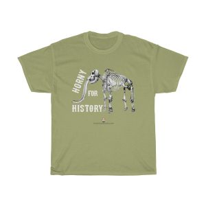 horny-for-history-t-shirt-wooly-mammoth-skeleton-gift-fun-teacher-historian