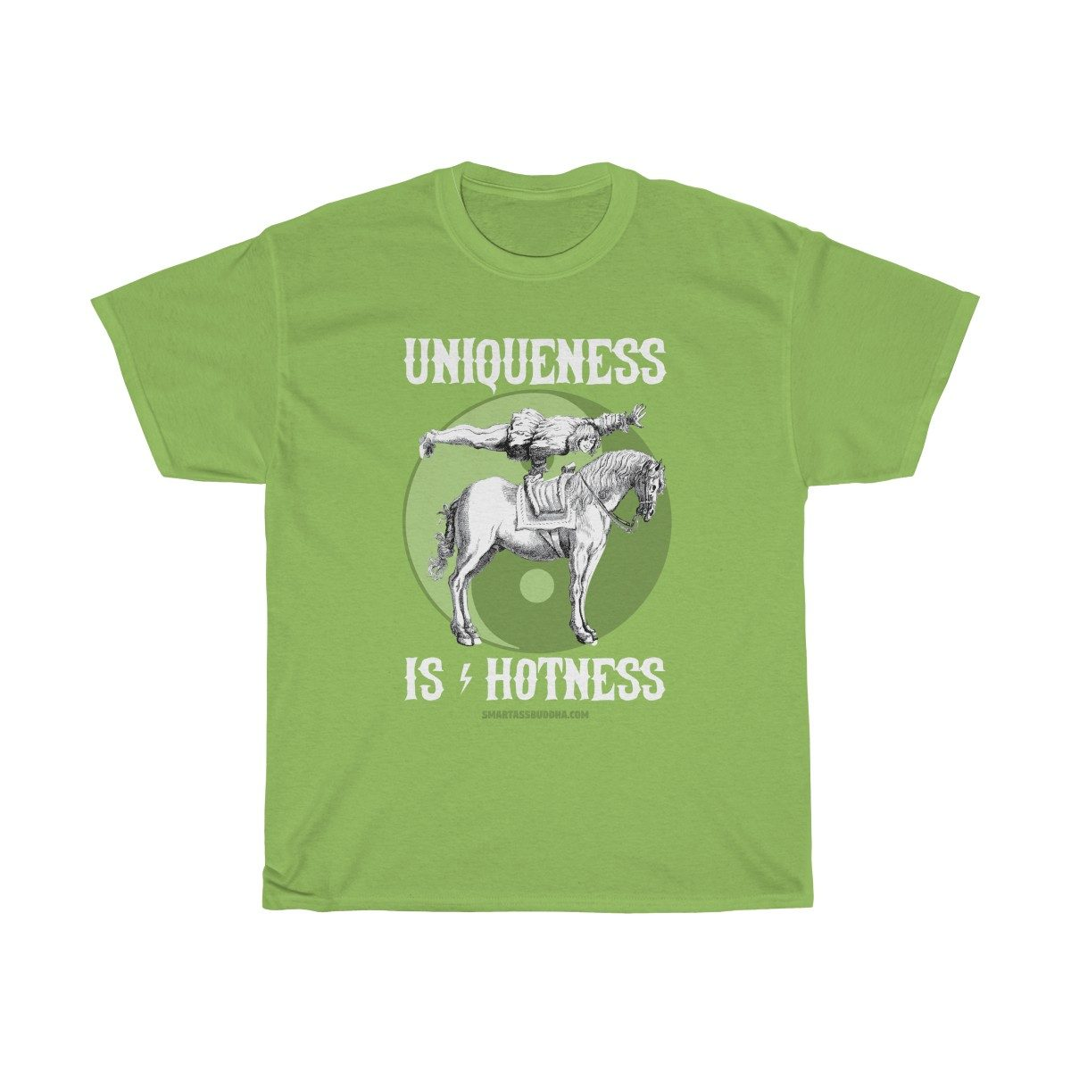 Positive-tshirt-gifts-for-her-women-men-dad-mom-him-funny-sayings-Buddha-tshirt-quotes-spiritual-uniqueness-hotness-green