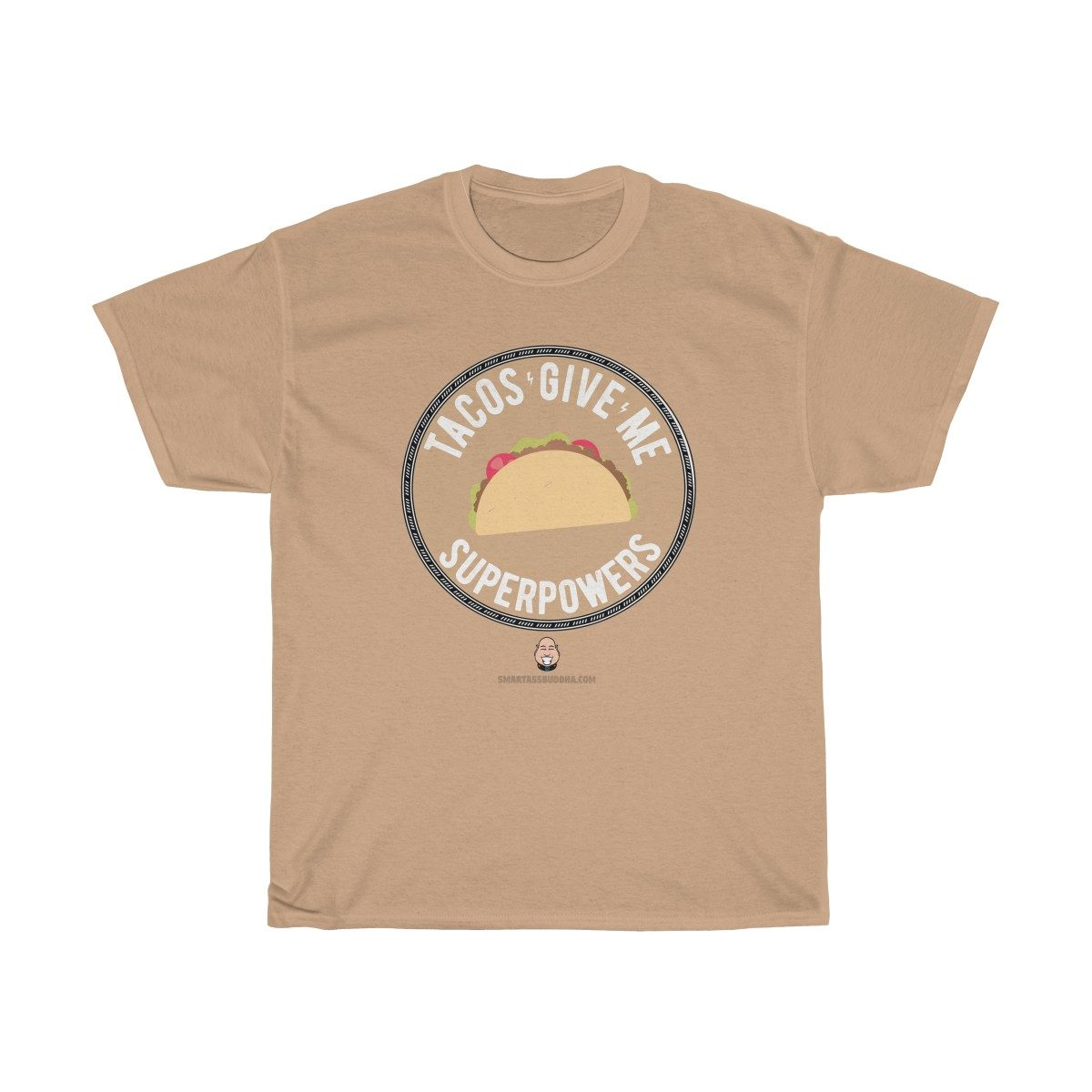 love-tacos-give-me-superpowers-funky-tshirt-cool-gift-tan
