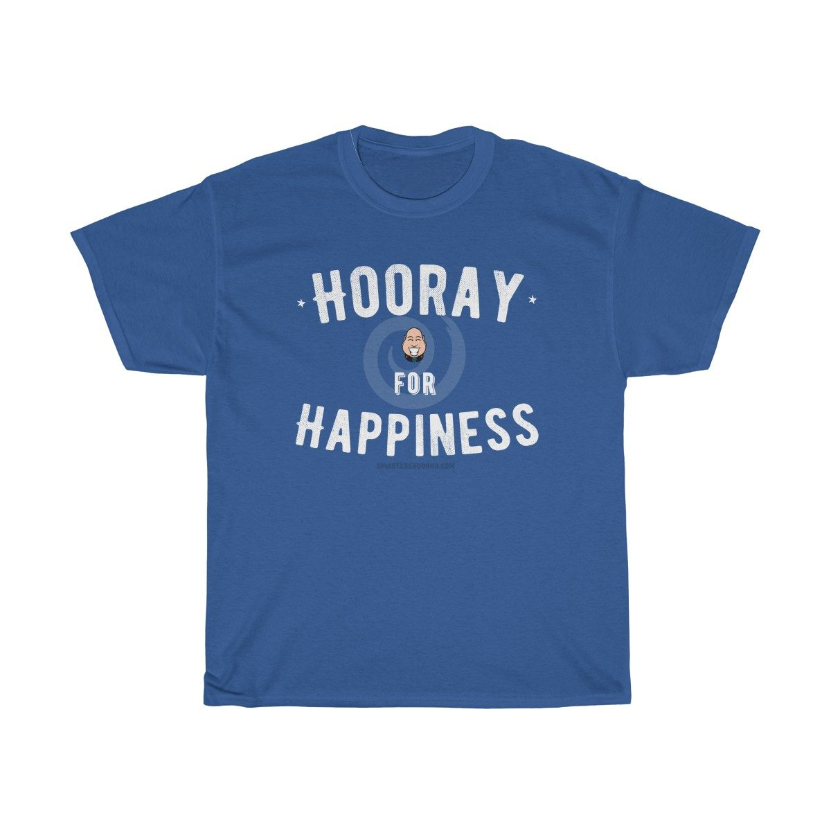 hooray-for-happiness-tshirt-with-sayings-for-women-blue