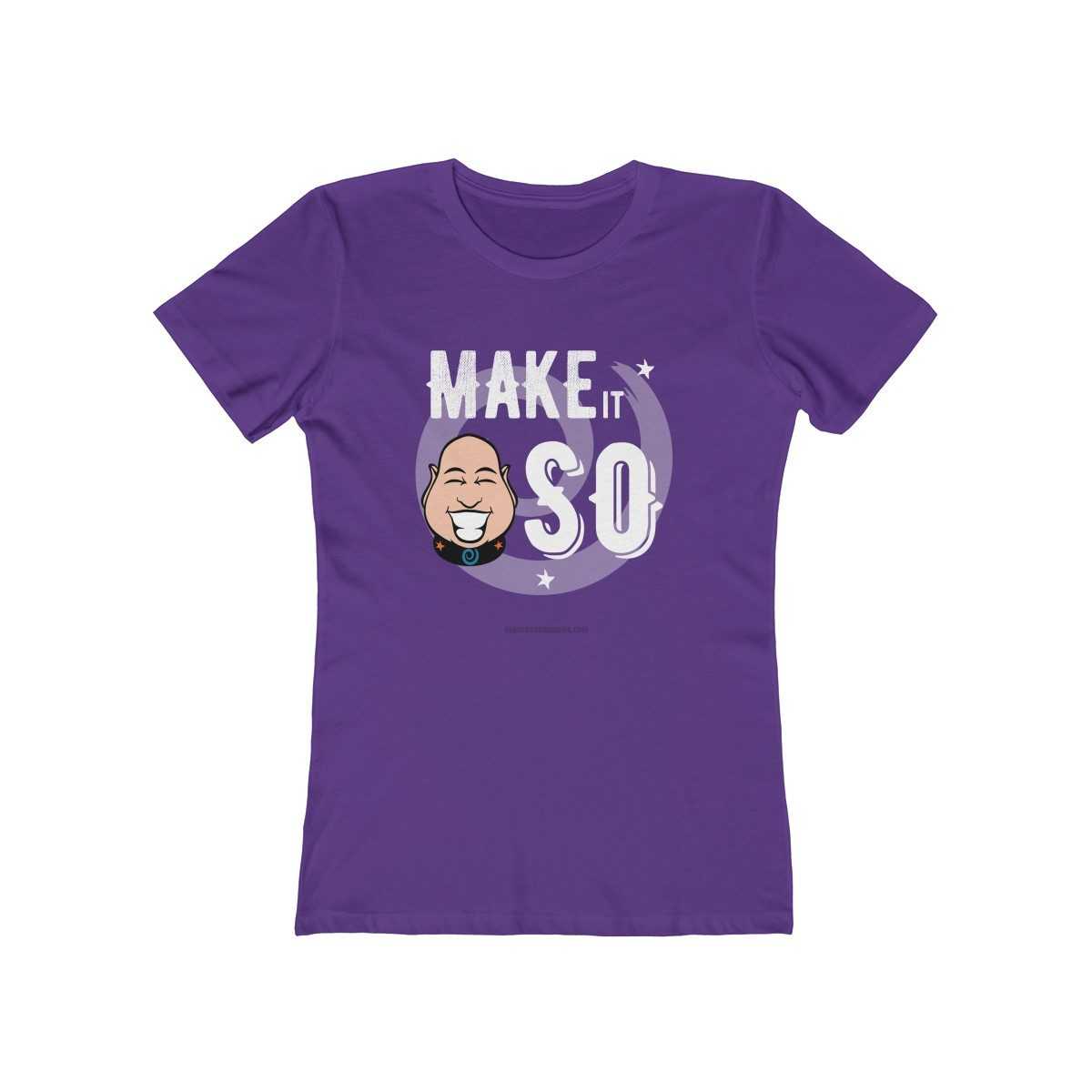 make-it-so-ladies-tshirt-with-sayings-for-women-funky-cool-gift-purple