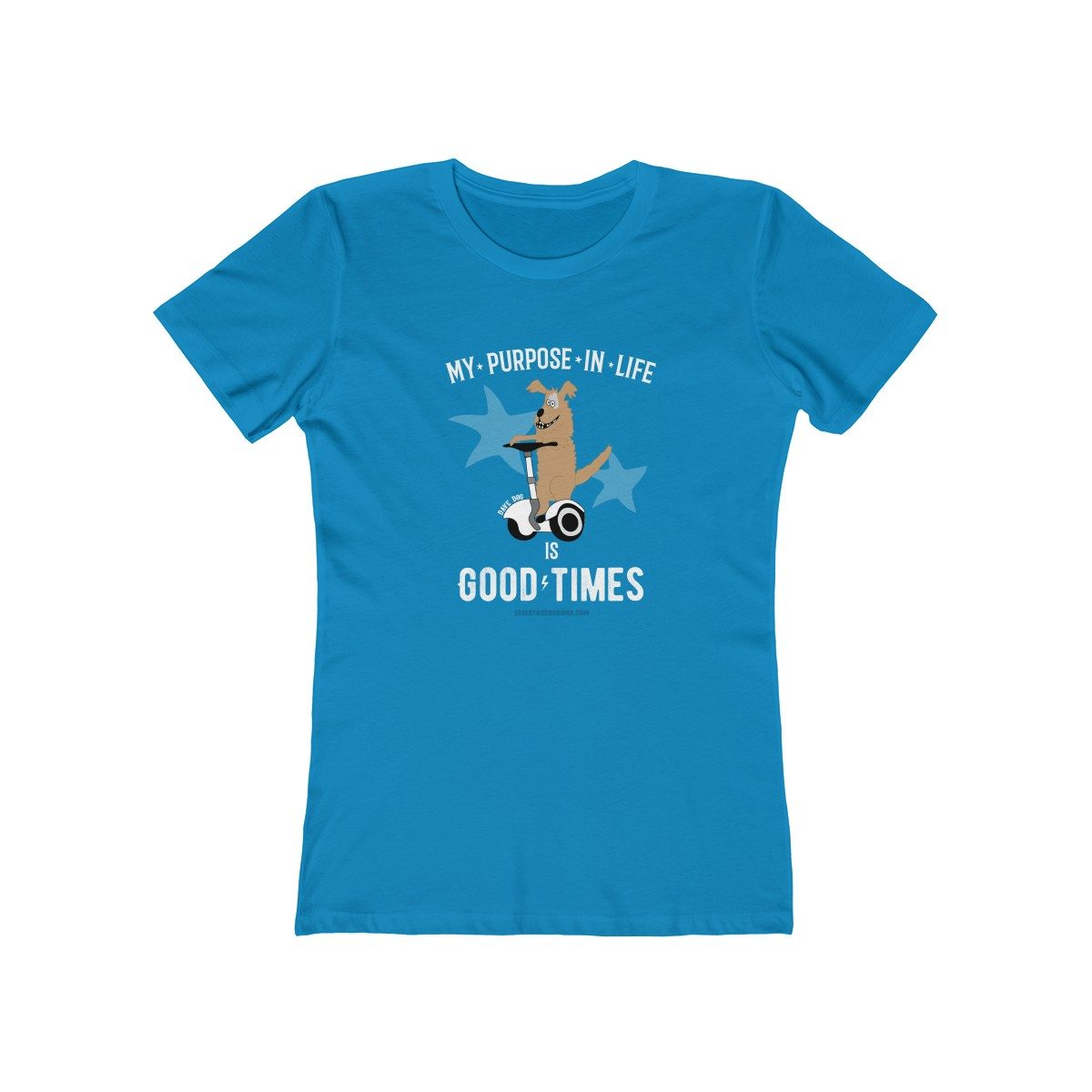 here-for-the-good-times-ladies-tshirt-women-gift-funny-sayings-dog-blue