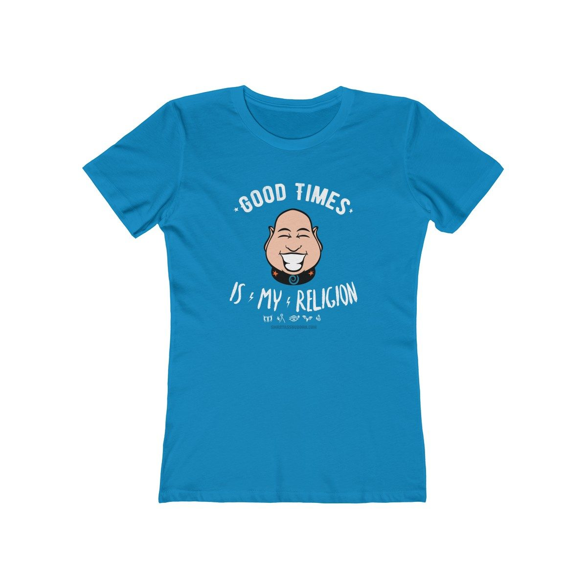 my-religion-is-kindness-tshirt-with-sayings-for-women-funky-gift-cool-blue