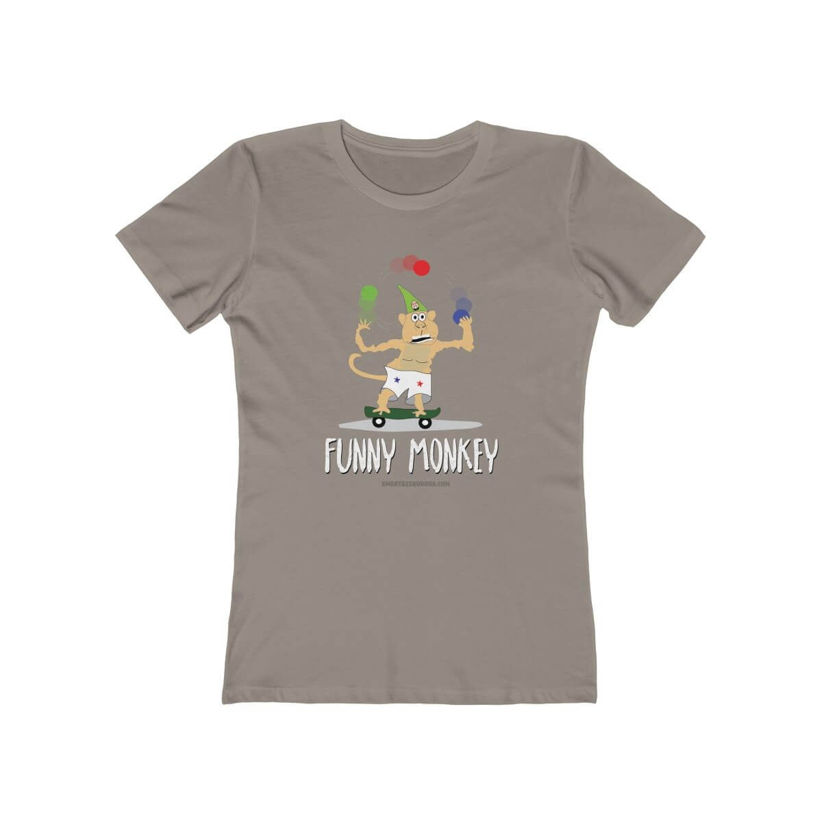 funny-monkey-tshirt-cool-animals-funnky-cool-gift-grey